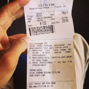 boarding pass Citilink