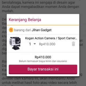 Beli Kogan Sports Camera 12MP di Bukalapak.com
